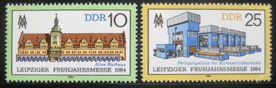 DDR 1984 Lipský veletrh Mi# 2862-63 0394