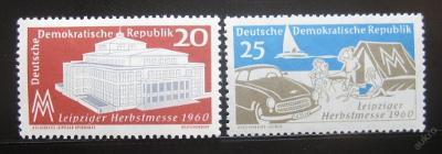 DDR 1960 Lipský veletrh Mi# 781-82 0436