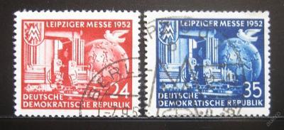DDR 1952 Lipský veletrh Mi# 315-16 7.50€ 0444