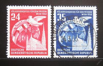 DDR 1952 Kongres národů Mi# 320-21 14€ 0444