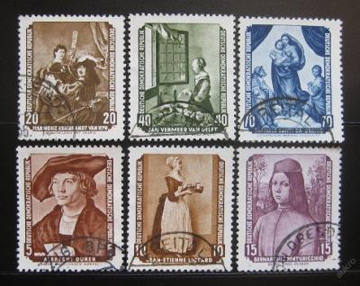 DDR 1955 Slavné obrazy Mi# 504-09 42€ 0445