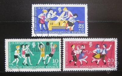 DDR 1961 Setkání pionýrů Mi# 827-29 5€ 0445