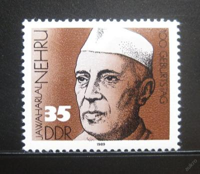 DDR 1989 Jawaharlal Nehru Mi# 3284 0473