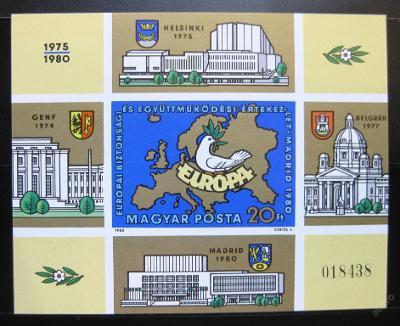 Maďarsko 1980 Konference bezp Mi# Bl 147B 30€ 0495