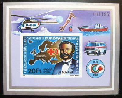 Maďarsko 1981 Červený kříž Mi# Bl 149B 30€ 0495