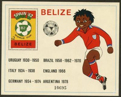 Belize 1981 MS ve fotbale Mi# Block 45 Kat 15€