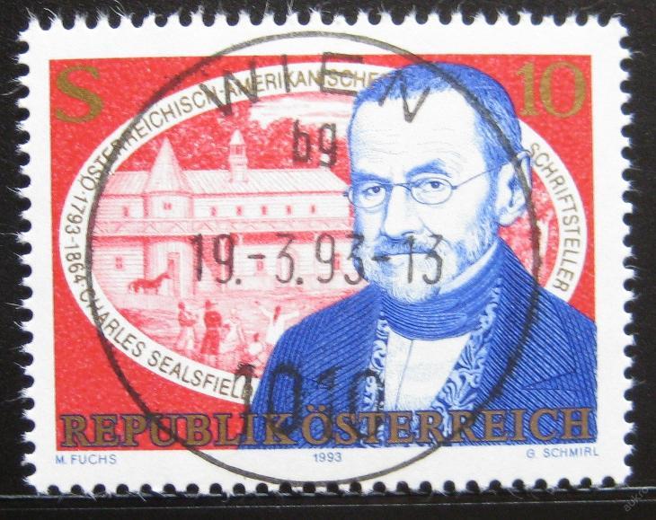 Rakousko 1993 Charles Sealsfield Mi# 2090 0751 - Filatelie