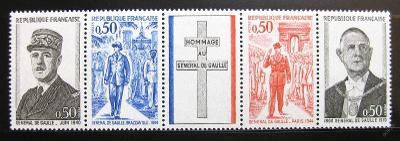 Francie 1971 Charles De Gaulle  Mi# 1772-75 0049