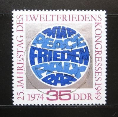 DDR 1974 První mírový kongres Mi# 1946 0974