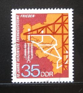DDR 1973 Elektrický systém Mír Mi# 1871 0973