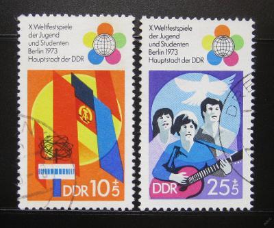 DDR 1973 Festival mládeže Mi# 1829-30 0973
