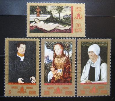DDR 1972 Umění, Lucas Cranach Mi# 1769-72 0972