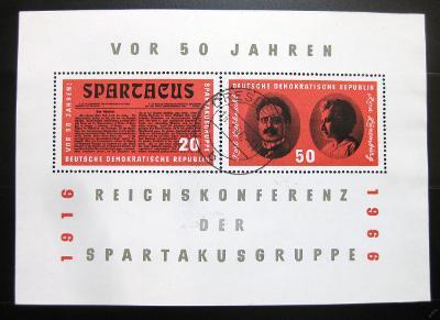 DDR 1966 Organizace Spartakus Mi# Bl 25 7€ 0966