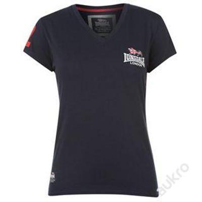 Tmavě modré dámské tričko LONSDALE, velikost L