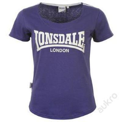 Dámské fialové tričko Lonsdale, velikost XXXL