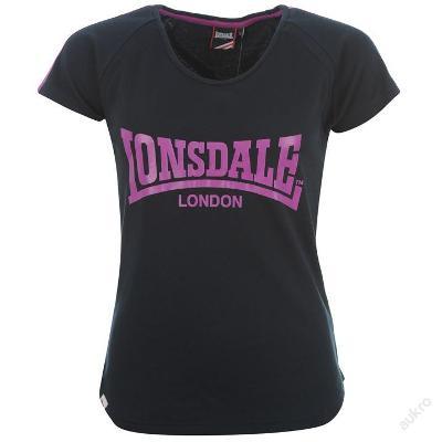 Dámské tmavě modré tričko Lonsdale, velikost S