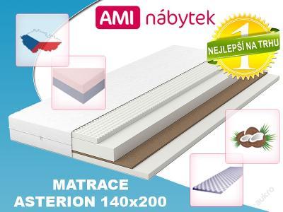 Vrstvová pěnová matrace ASTERION 140x200 KOKOS AMI