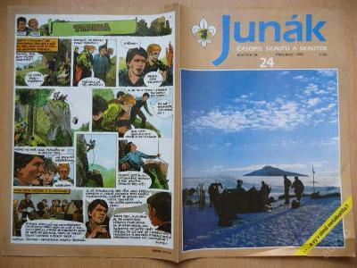 Časopis - JUNÁK - číslo 24 z prosince roku 1991