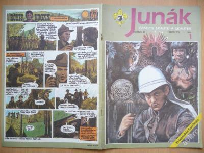 Časopis - JUNÁK - číslo 1 z ledna roku 1992