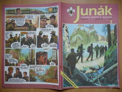 Časopis - JUNÁK - číslo 3 z února roku 1992