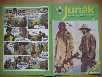 Časopis - JUNÁK - číslo 4 z února roku 1992