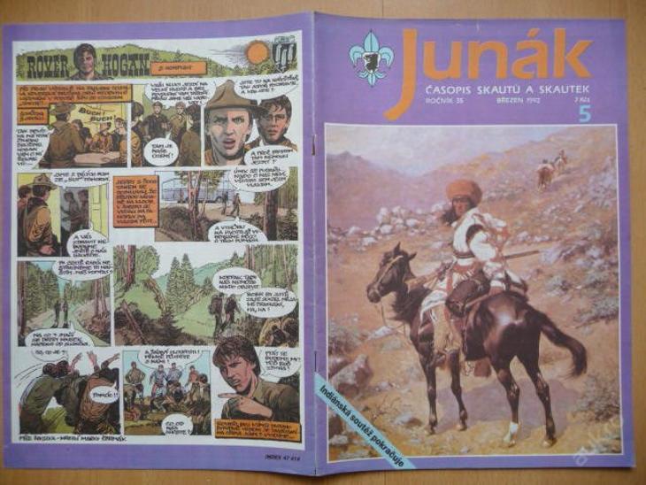 Časopis - JUNÁK - číslo 5 z března roku 1992 - Vojenské