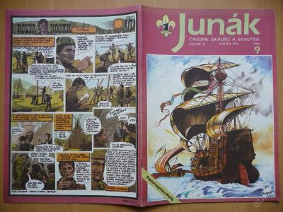 Časopis - JUNÁK - číslo 9 z května roku 1992