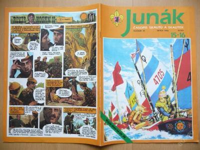 Časopis - JUNÁK - číslo 15-16 ze srpna roku 1992