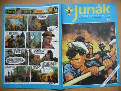 Časopis - JUNÁK - číslo 19 z října roku 1992