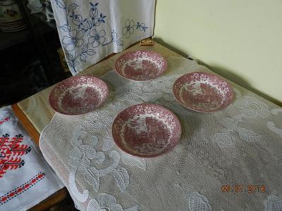4 krásné porcelánové misky Staffordshire England