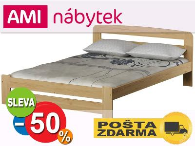 Borovice POSTEL s pružným ROŠTEM SAŠA 140x200