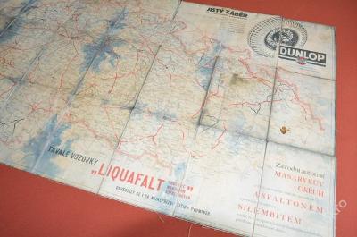 reklamní mapa cca z roku 1930-35