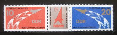 DDR 1977 Veletrh Mistři zítřka Mi# 2268-69 0161
