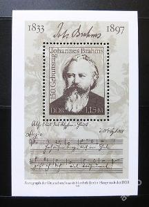 DDR 1983 Johannes Brahms Mi# Block 69 0160