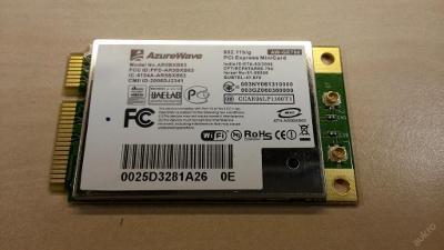 Wifi AW-GE780 z MSI VR630 MS-1672