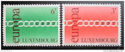 Lucembursko 1971 Evropa CEPT Mi# 824-25 0029