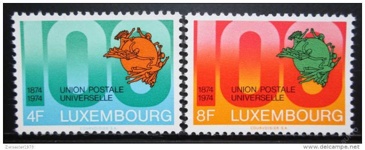 Lucembursko 1974 Století UPU Mi# 889-90 0024 - Filatelie