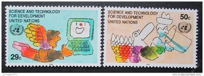 OSN New York 1992 Věda Mi# 635-36 0019