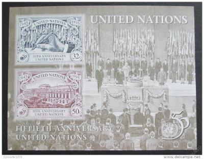 OSN New York 1995 Výročí OSN Mi# Block 12 1028