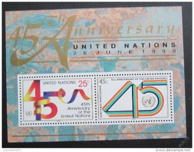 OSN New York 1990 Výročí OSN Mi# 602-03 1028