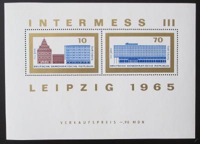 DDR 1965 Lipsko, 800. výročí Mi# Block 23 1070