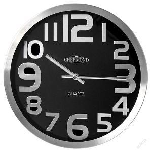 Luxusní nástěnné hodiny CHERMOND, kovové pouzdro