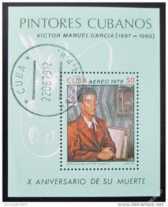 Kuba 1979 Umění Mi# Block 60 1052