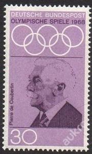 Německo 1968 Pierre de Coubertin Mi# 563 1055