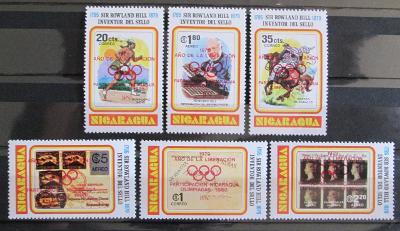 Nikaragua 1980 LOH Moskva Mi# 2085-90a 35€ 1121