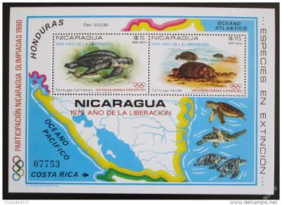 Nikaragua 1980 LOH Moskva Mi# Block 114 b 45€ 1122