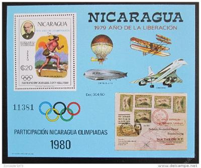 Nikaragua 1980 LOH Moskva Mi# Block 111 40€ 1122