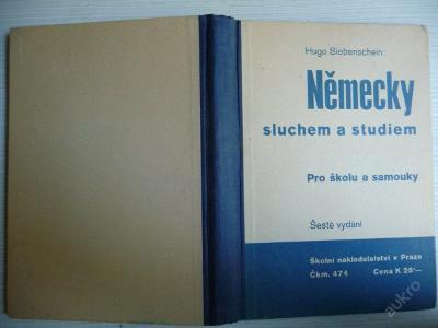 NĚMECKY SLUCHEM A STUDIEM - H. Siebenschein - 1939