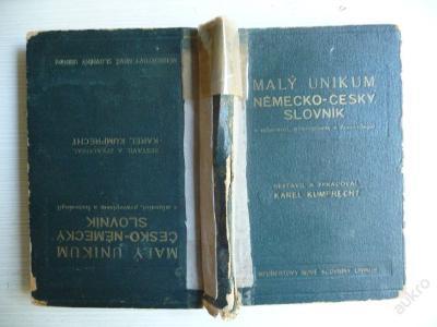MALÝ NĚMECKO-ČESKÝ SLOVNÍK UNIKUM - ORBIS 1942