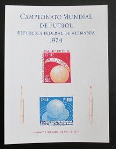 Chile 1974 MS ve fotbale Mi# 804-05 Kat 17€ 1114